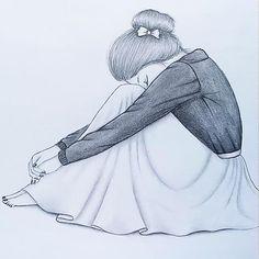 Girl Drawing Sketches, Girly Drawings, Art Drawings Sketches Simple, Girl Sketch, Pencil Art Drawings, Realistic Drawings, Sad Girl Drawing, Pencil Sketching, 3d Art Drawing