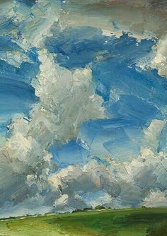 Oliver Akers Douglas, Big Day Love the brushstrokes in this painting. Landscape Art, Landscape Paintings, Sky Painting, Love Art, Impressionism, Painting Inspiration, Amazing Art, Awesome, Art Photography