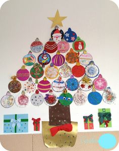 árbol de navidad con bolas decoradas por niños Activities For Kids, Crafts For Kids, Classroom Board, Beavers, Craft Materials, Christmas Eve, Handicraft, Diy Home Decor, Art Projects