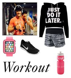 """""""Workout With Kim Joong Kook and Chanyeol"""" by celinesehun94ever ❤ liked on Polyvore featuring NIKE and Speck"""