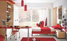 red color children bedroom - Buscar con Google
