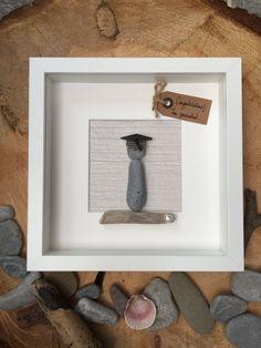 Pebble art Graduation frame gift by MoonlightgiftsShop on Etsy