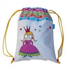 Mochila divertida para niña y niño hecha a mano en tela de algodón de la marca Micu Macu.