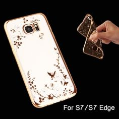 New Fashion Flower TPU Phone Case The Secret Garden Cover Phone Cases Accessories Protector for Samsung Galaxy S7/S7 edge - 6 Colors