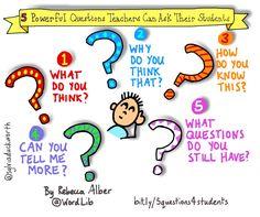 5 Powerful Questions Teachers Can Ask Their Students via Sylvia Duckworth