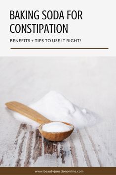 Discover how to use baking soda for constipation!