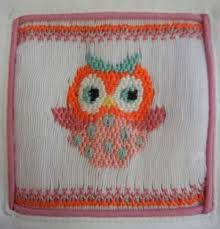 Image result for owl smocking design