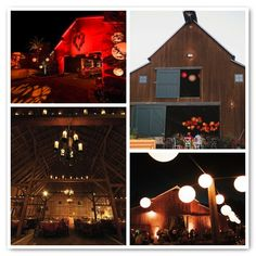 #Uplighting and a #gobo is the perfect finishing touch for this #rustic #wedding lodge!  #RentMyWedding #receptionideas