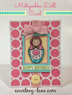 Matryoshka doll card made using the March Stamp of the Month