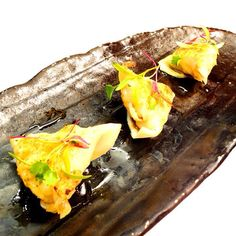 Want delicious dim sum for #TuesdayTreat lunch?  Try Seafood Gyoza at @cocochanw1!  Minced prawn, squid & seabass filled dumplings, served with ponzu!  It is also available on @squaremeal 2 courses dinner offer tonight, check out www.squaremeal.co.uk/restaurant/cocochan for more info! (^_−)☆