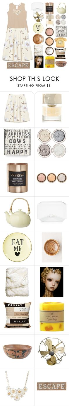 """""""pastel yellow, beige and porcelain"""" by denibrad ❤ liked on Polyvore featuring Smith & Cult, Primitives By Kathy, Cocolux, By Terry, Bloomingville, Givenchy, Urban Outfitters, H&M, Elise & James Home and Anne Klein"""