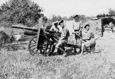 Men of the 4th (Highland) Mountain Brigade with 2.75 inch mountain gun, Kamberli, Salonika Front, in June 1918 just before the final offensive that caused the collapse of Bulgaria and the German southern protective belt June 1918.