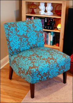 Creatively Em: Armless Chair Recover