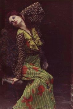 Gala Mitchell in Ossie Clark Dress, 1969