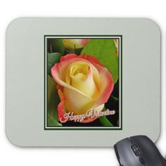Personalized coasters coaster home gifts ideas decor special romantic valentines day yellow orange rose mouse pad saint valentines day gift idea couple love negle Images