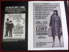 In memory of Director #GeneSaks, we are offering a #LucieArnaz flyer and photograph from his play LOST in Yonkers.  Neil Simon Orig Flyer + photo,Lucille COA See Video