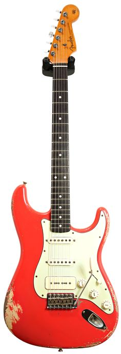 Fender Custom Shop P90 Strat Relic Fiesta Red over Desert Sand Master Built by Dale Wilson #CZ528297 Main Product Image