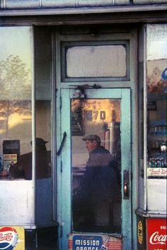 """Saul Leiter, """"Green Door"""" 1950s"""