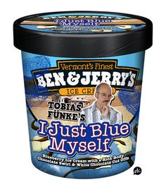 Pop Culture Ice Creams: Tobias Funke's I Just Blue Myself by Jon Defreest