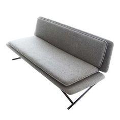 Patrick Norguet Boarding Sofa - Modern Wool Felt in Grey