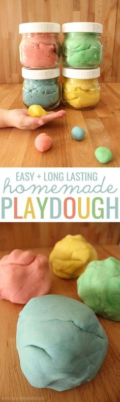 Easy Long Lasting Homemade Playdough! Hands down the BEST homemade play dough there is! Lasts for months and is totally safe for little ones! A must try. #celebratefamilyvalues #spon