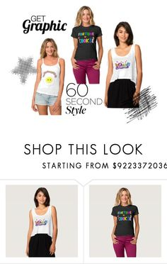 Must Have Graphic Tops! by flisty on Polyvore featuring 60secondstyle