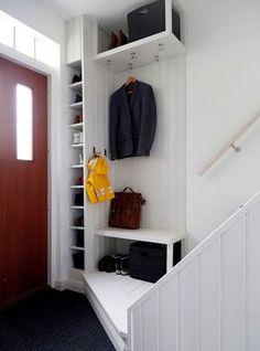 Smart förvaring hall home ideas hallway storage, small hallways, small entr Home Interior, Interior And Exterior, Small Entrance, Entrance Table, Small Hallways, Hallway Storage, Hallway Decorating, Home Organization, Small Spaces