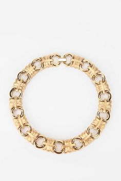 Vintage '80s Givenchy Gold-Tone Link Necklace  #UrbanOutfitters