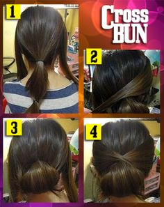 Cross bun absurdly easy and cute - Tutorials des Tages 13.02.2014 | Funcloud