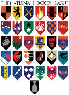 NHL logos meet Game of Thrones. Damn, this is cool! Found on thehockeynews.com, this was created by artist Rachel L. Cohen. See more of her work at RLCohenArt.com .