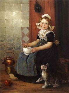 Edmond Louyot (French artist, 1861-1920) - The little beggar