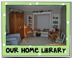 Creating Readers and Writers: Home Libraries...love it!