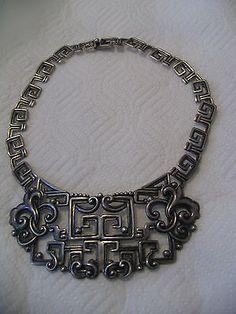 Spectacular Margot de Taxco Mexico Mexican Sterling Silver Necklace 103 9 Grams | eBay