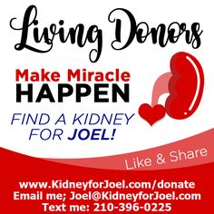 PFKidney Kidney Donor, Miracles Happen, Save My Life, Text Me, Medium, Healthy Living, Shit Happens, Wealth, Campaign