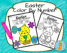 Ready to go Color by Number (Easter Theme) by Smart as a Fox Designs. Perfect activity for children who need to practice their simple number recognition skills (Numbers 1-6), for those who finish their work quickly, for morning mathematics activities or simply to relax your students after a long day.