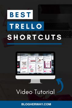 Check out these Trello tips for bloggers on how to use Trello Shortcuts to speed up your workflow process. Trello is a great online work productivity tool that you can use to help manage your blog and business. Click to learn more and watch the video tutorial. #trellotips #blogtips #workproductivity Focus At Work, Work Productivity, Virtual Assistant Services, Blog Topics, Blog Planner, Business Advice, Work From Home Moms, Online Work, Make Money Blogging