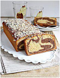 Cake variegato al latte di cocco
