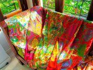 Complementos, chales y foulards de seda reversible JULUNGGUL. Hecho en ESpaña