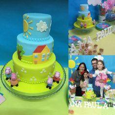 Peppa Pig Cake to my beautiful Daughter by . ESLAVASCAKE MAdrid / Spain.