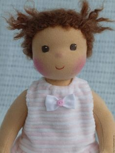 Купить Кнопочка - бледно-розовый, розовый, вальдорфская кукла, вальдорфская игрушка, вальдорфская кукла купить