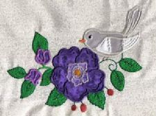 Applique Birds and Flowers Machine Embroidery Designs