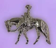 Quarter Horse with Rider Pendant - The Gorgeous Horse