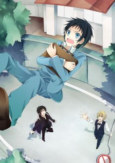 Mikado Ryugamine got between Izaya and Shizuo fighting.  Enjoy your flight! - Google Search