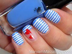 Maryam Maquillage: Sailor Stripes Nail Art & Easy Tutorial