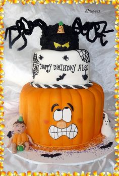 Scared Pumpkin birthday cake