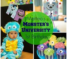 Real Party Inspiration: Matteo's Monster's University 1st Birthday