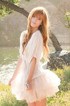 Bella Thorne.. Love the outfit. its so soft and sweet yet outgoing
