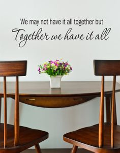 Together We Have It All Wall Decal  Home by DavisVinylDesigns, $20.00