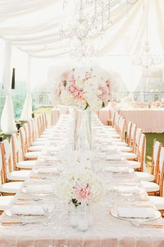 Tablescape with pink and gold details: http://www.stylemepretty.com/california-weddings/2014/05/15/pink-and-gold-wedding-at-the-london-west-hollywood/ | Photography: Onelove Photography - http://www.onelove-photo.com/