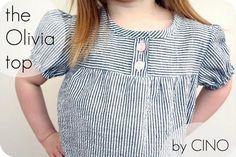 DIY Girls Clothes Refashion: DIY the Olivia top : DIY Clothes : DIY Fashion : DIY shirt